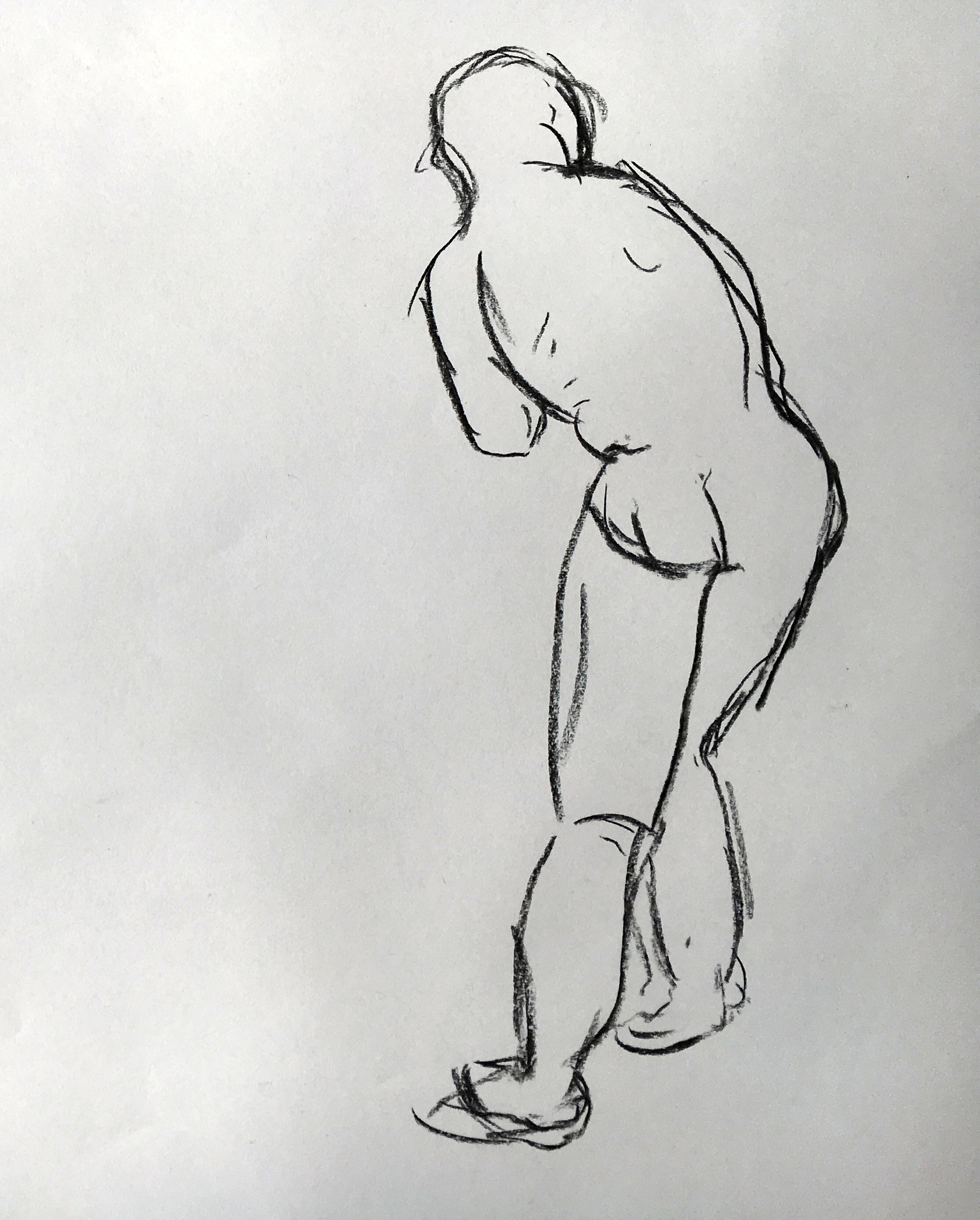 Naked man life drawing